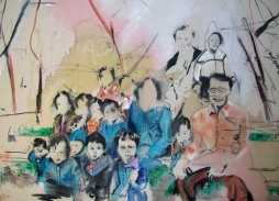 Autumn in Chicago, 2009 4'x5' mixed media on canvas